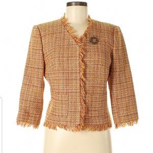 ABS Allen schwartz plaid suit skirt and jacket.